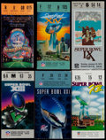 Football Collectibles:Tickets, 1975-94 Super Bowl Tickets Lot of 6....