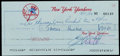 Baseball Collectibles:Others, Jim Catfish Hunter Signed New York Yankees Payroll Check....