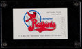 Baseball Collectibles:Others, Satchel Paige Signed Business Card. ...