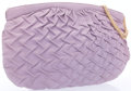 """Luxury Accessories:Accessories, Judith Leiber Purple Leather Shoulder Bag. Good to Very GoodCondition. 14.5"""" Width x 8.5"""" Height x 2"""" Depth 12""""Shoul..."""