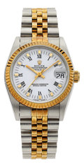 Estate Jewelry:Watches, Rolex Lady's Gold, Stainless Steel Oyster Perpetual DateJust Watch. ...