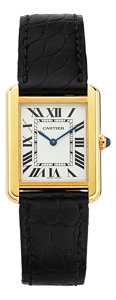 Estate Jewelry:Watches, Cartier Lady's Tank Solo Gold, Stainless Steel Watch. ...