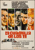 """Movie Posters:Crime, Ocean's 11 (Hispamex Films, S.A., R-1972). Spanish One Sheet (27.5""""X 39.5""""). Crime.. ..."""