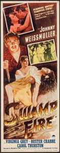 "Movie Posters:Adventure, Swamp Fire (Paramount, 1946). Insert (14"" X 36""). Adventure.. ..."