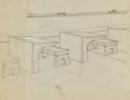 Animation Art:Production Drawing, Walter Lantz Background Drawing (Walter Lantz Productions,1930s)....