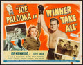 "Movie Posters:Sports, Joe Palooka in Winner Take All (Monogram, 1948). Half Sheet (22"" X 28""). Sports.. ..."