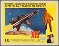 "Movie Posters:Adventure, X-15 (United Artists, 1961). Half Sheet (22"" X 28""). Adventure....."