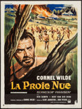 "Movie Posters:Adventure, The Naked Prey (Paramount, 1966). French Affiche (23.5"" X 31.5"").Adventure.. ..."