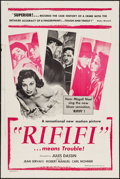 """Movie Posters:Foreign, Rififi (Gaumont, 1955). One Sheet (27"""" X 41""""). Foreign.. ..."""