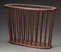 Paintings, An Arthur Umanoff Walnut Magazine Rack, 20th century. 14-1/2 inches high x 20-3/4 inches wide x 7-1/2 inches deep (36.8 x 52...