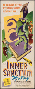 "Movie Posters:Mystery, Inner Sanctum (Film Classics, Inc., 1948). Insert (14"" X 36"").Mystery.. ..."