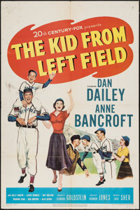 "The Kid from Left Field (20th Century Fox, 1953). One Sheet (27"" X 41""). Sports"