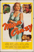 "Movie Posters:Bad Girl, Man Crazy (20th Century Fox, 1953). One Sheet (27"" X 41""). BadGirl.. ..."