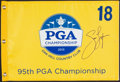 Golf Collectibles:Autographs, Jason Dufner Signed 2013 PGA Championship Flag....