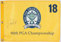 Golf Collectibles:Autographs, Padraig Harrington Signed 2008 PGA Championship Flag....