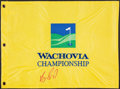 Golf Collectibles:Autographs, Vijay Singh Signed Flag....