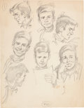 Original Comic Art:Sketches, Jack Davis - Young Man Expression Sketch Original Art (undated)....
