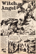 "Original Comic Art:Panel Pages, Jack Davis ""Witch Angel"" Page 1 and 3 Original Art (c. 1950)....(Total: 2 Original Art)"