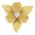 Estate Jewelry:Brooches - Pins, Diamond, Gold Enhancer-Brooch. ...