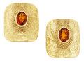 Estate Jewelry:Earrings, Citrine, Gold Earrings, Ed Wiener. ...