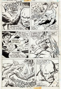 "Original Comic Art:Panel Pages, Dick Ayers and Vince Colletta Astonishing Tales #24 ""Five Claws of Death!"" Page Original Art Group of 4 (Marvel, 1... (Total: 4 Original Art)"