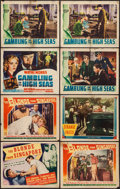 "Movie Posters:Adventure, The Blonde from Singapore & Others Lot (Columbia, 1941). TitleLobby Cards (2) & Lobby Cards (6) (11"" X 14""). Adventure.. ...(Total: 8 Items)"