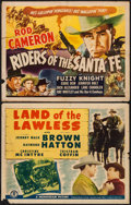 "Movie Posters:Western, Riders of the Santa Fe & Other Lot (Universal, 1944). Half Sheets (2) (22"" X 28""). Western.. ... (Total: 2 Items)"