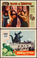 """Movie Posters:Science Fiction, Godzilla vs. the Thing & Other Lot (American International,1964). Lobby Cards (2) (11"""" X 14""""). Science Fiction.. ... (Total: 2Items)"""