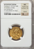 Ancients:Byzantine, Ancients: Constans II (AD 641-668). AV solidus (4.38 gm)....