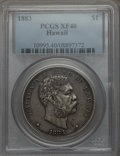 Coins of Hawaii: , 1883 $1 Hawaii Dollar XF40 PCGS. PCGS Population (168/456). NGCCensus: (63/293). Mintage: 500,000. ...