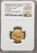 Ancients:Roman Imperial, Ancients: Valentinian I (AD 364-375). AV solidus (3.81 gm)....