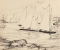 Fine Art - Work on Paper:Drawing, Elizabeth Boardman Warren (American, 1886-1990). Coming intoHarbor and Fishing Trade (two works). Ink on paper,eac... (Total: 3 Items)