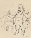 Fine Art - Work on Paper:Print, William Gropper (American, 1897-1977). Big Business . Ink on paper. 22 x 18 inches (55.9 x 45.7 cm) (sight). Signed lowe...