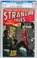 Silver Age (1956-1969):Science Fiction, Strange Tales #62 (Atlas, 1958) CGC FN/VF 7.0 Cream to off-whitepages....