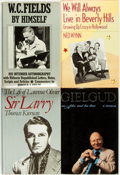 Books:Biography & Memoir, [Motion Pictures, Acting]. Group of Four Biographies and Memoirs.Various publishers and dates. . ... (Total: 4 Items)