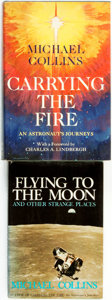 Books:Biography & Memoir, [Space Exploration]. Pair of First Editions by Michael Collins. NewYork: Farrar, Straus and Giroux, 1974, 1976. . ... (Total: 2 Items)
