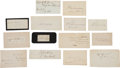 Military & Patriotic:Civil War, Extensive Collection of Clipped Signatures....