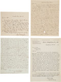 Military & Patriotic:Civil War, Three Letters Written by John Augustine Washington III.... (Total: 4 Items)