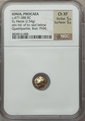 Ancients:Greek, Ancients: IONIA. Phocaea. Ca. 477-388 BC. EL sixth stater or hecte(2.54 gm)....