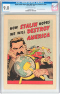 Golden Age (1938-1955):Non-Fiction, How Stalin Hopes We Will Destroy America #nn (Joe Lowe Co., 1951)CGC VF/NM 9.0 Off-white to white pages....