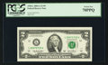 Fr. 1938-L $2 2003A Federal Reserve Note. PCGS Perfect New 70PPQ