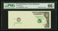 Error Notes:Foldovers, Fr. ? $1 Federal Reserve Note. PMG Gem Uncirculated 66 EPQ.. ...