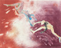 Fine Art - Work on Paper:Print, Mary Frank (American, b. 1933). Encounter, 1987. Monotype. 27-1/4 x 34-3/4 inches (69.2 x 88.3 cm) (sight). ...