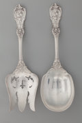 Silver Flatware, American:Reed & Barton, A Reed & Barton Francis I Pattern Silver Salad ServingSet, Taunton, Massachusetts, designed 1907. Marks: (eagle...(Total: 2 Items)