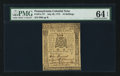 Colonial Notes:Pennsylvania, Pennsylvania July 20, 1775 10s PMG Choice Uncirculated 64 EPQ.. ...