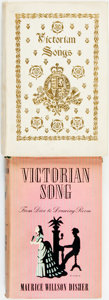 Books:Music & Sheet Music, [Music, Victoriana]. Pair of Books on Victorian Song. Variouspublishers, 1895- 1955. . ... (Total: 2 Items)