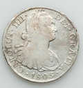 Mexico, Mexico: Charles IV 8 Reales Quartet 1805-08,... (Total: 4 coins)