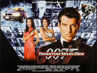 "Tomorrow Never Dies (United Artists, 1997). British Quad (30"" X 40""). James Bond"