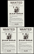 "Movie Posters:Science Fiction, Star Wars Wanted Posters (1970s). Unlicensed Posters (3) (11"" X17.5""). Science Fiction.. ... (Total: 3 Items)"