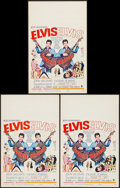 "Movie Posters:Elvis Presley, Double Trouble (MGM, 1967). Window Cards (3) (14"" X 22""). Elvis Presley.. ... (Total: 3 Items)"